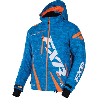 FXR Boost Jacket Blue/Digi/Org