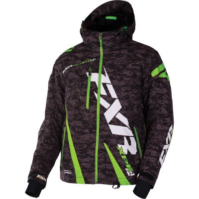 FXR Boost Jacket Black Gry/Digi/Lime