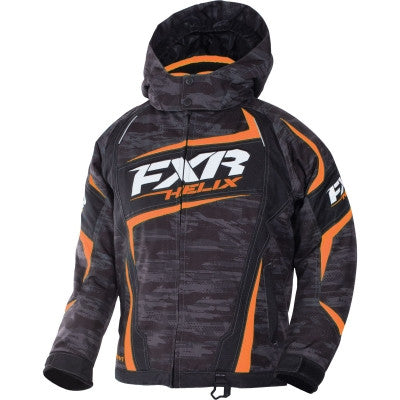 FXR Helix Youth Jacket Char/Org