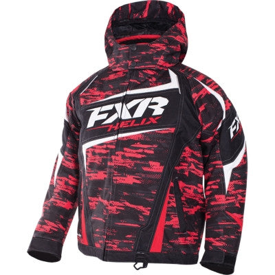 FXR Helix Youth Jacket Red/Char