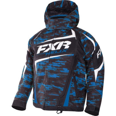 FXR Helix Youth Jacket Blue/Char