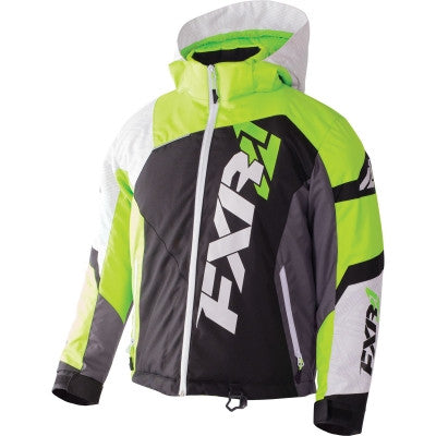 FXR Revo X Youth Jacket Blk/Wht/Lime