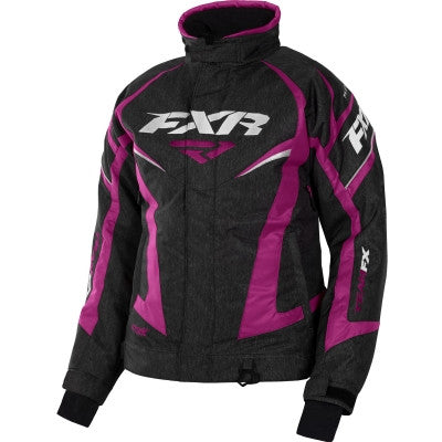 FXR Team Womens Jacket Blk/Htr/Wineberry
