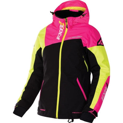 FXR Vertical Edge Womens Jacket ElecPnk/HiVis