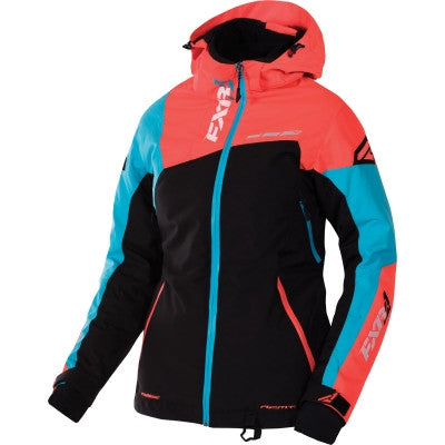 FXR Vertical Edge Womens Jacket Blk/ElecTang