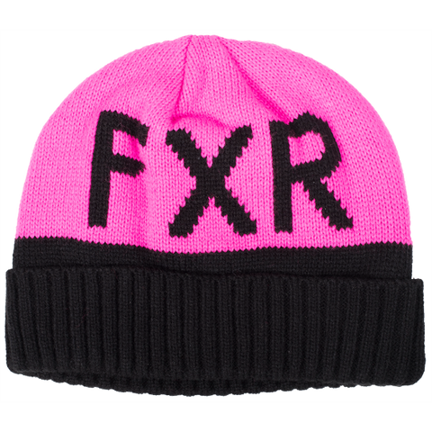 FXR Helium Youth Beanie Black Pink