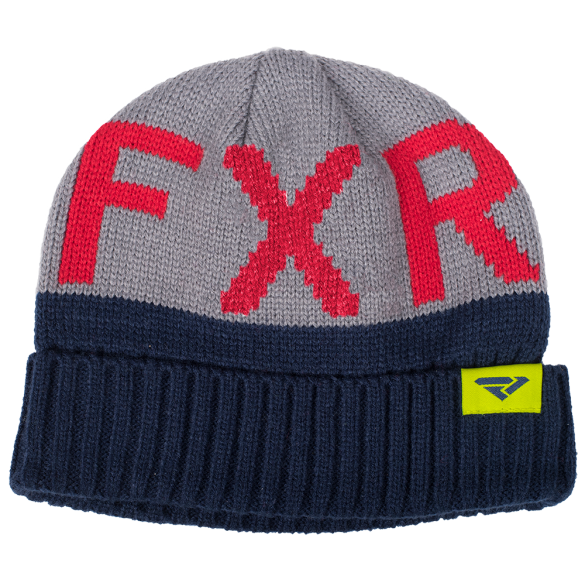 FXR Helium Youth Beanie Navy Grey