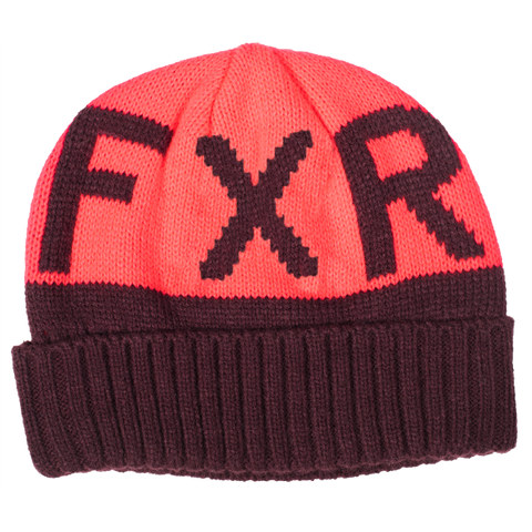 FXR Helium Youth Beanie Plum Coral