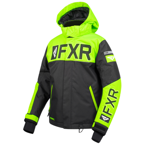 FXR Helium Youth Jacket 19 Black Lime