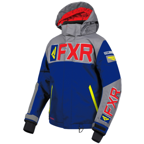 FXR Helium Youth Jacket 19 Navy Grey Red