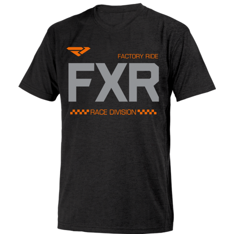 FXR Helium Tee Black Orange