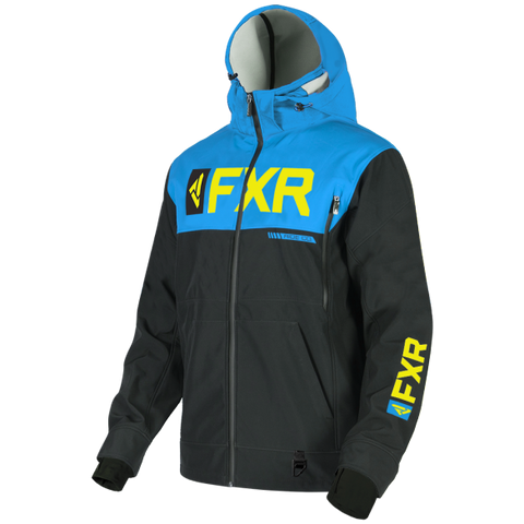 FXR Helium Ride Softshell Jacket Blue HiVis