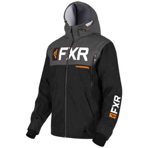 FXR Helium Ride Softshell Jacket Black Orange