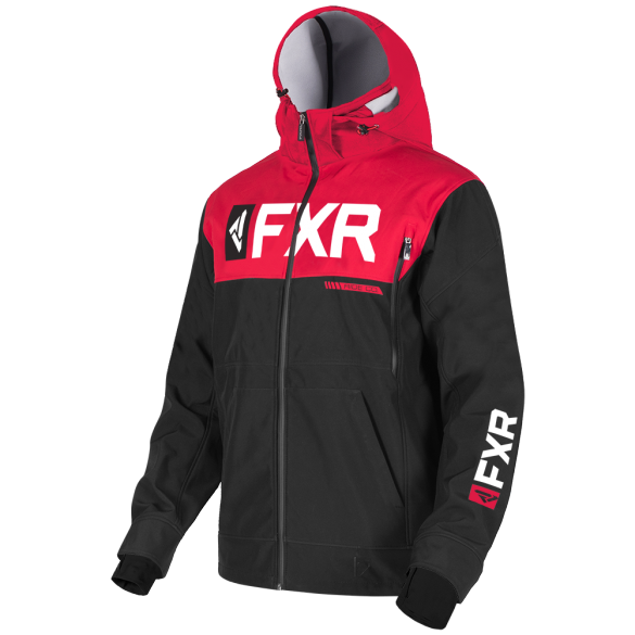 FXR Helium Ride Softshell Jacket Black Red