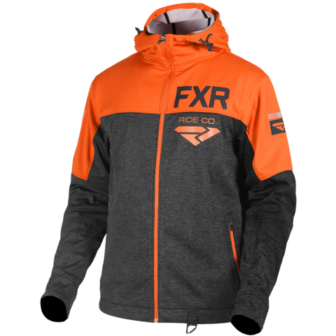 FXR Hydrogen Softshell Hoody Charcoal Orange