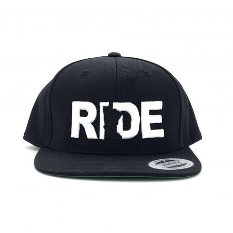Ride Minnesota Hat Flat Brim Snapback Black