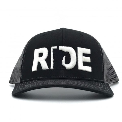 Ride Minnesota Hat Trucker Snapback  Black/Grey Mesh