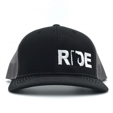 Ride MN Night Out Hat Trucker Snapback  Black/White