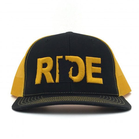 Ride Minnesota Hat Trucker Snapback Black/Yellow