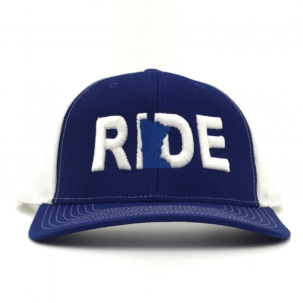 Ride Minnesota Hat Trucker Snapback Blue/White