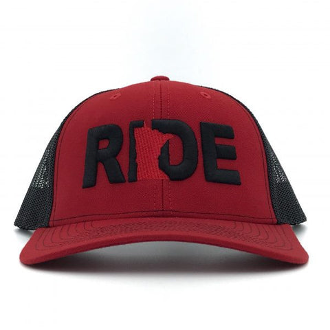 Ride Minnesota Hat Trucker Snapback Red/Black Mesh