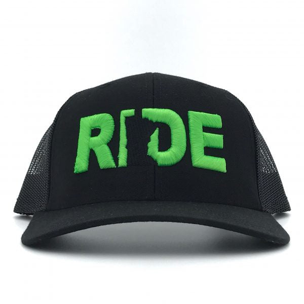 Ride Minnesota Hat Trucker Snapback  Black/Green
