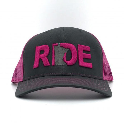 Ride Minnesota Hat Trucker Snapback Pink