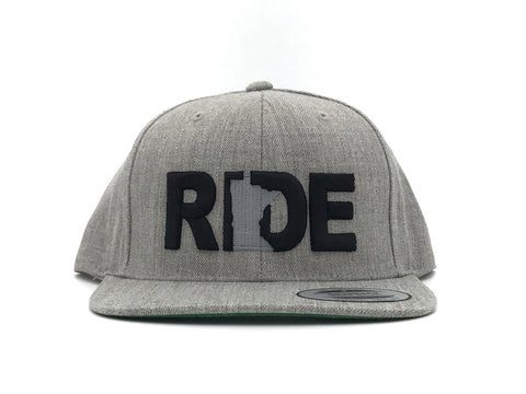 Ride Minnesota Hat Flat Brim Snapback Grey