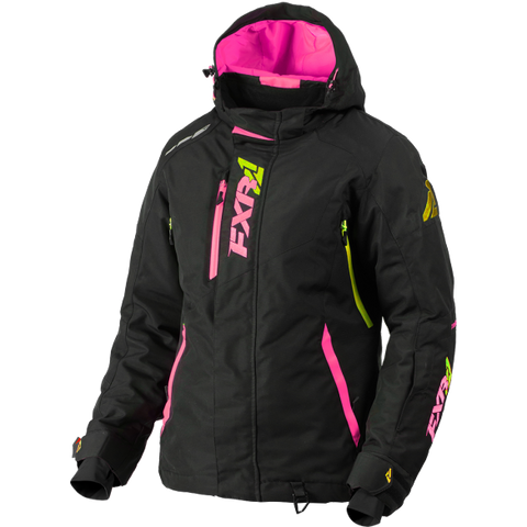 FXR Vertical Pro Womens Jacket Black/ElecPink/HiVis