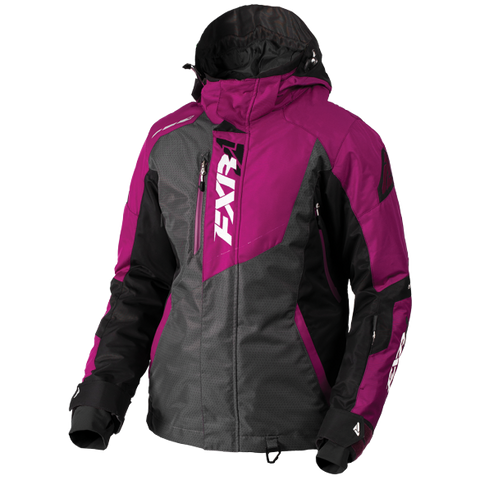 FXR Vertical Pro Womens Jacket Charcoal/Berry