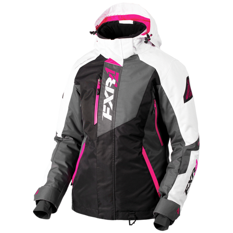 FXR Vertical Pro Womens Jacket Black/Charcoal/Fuchsia