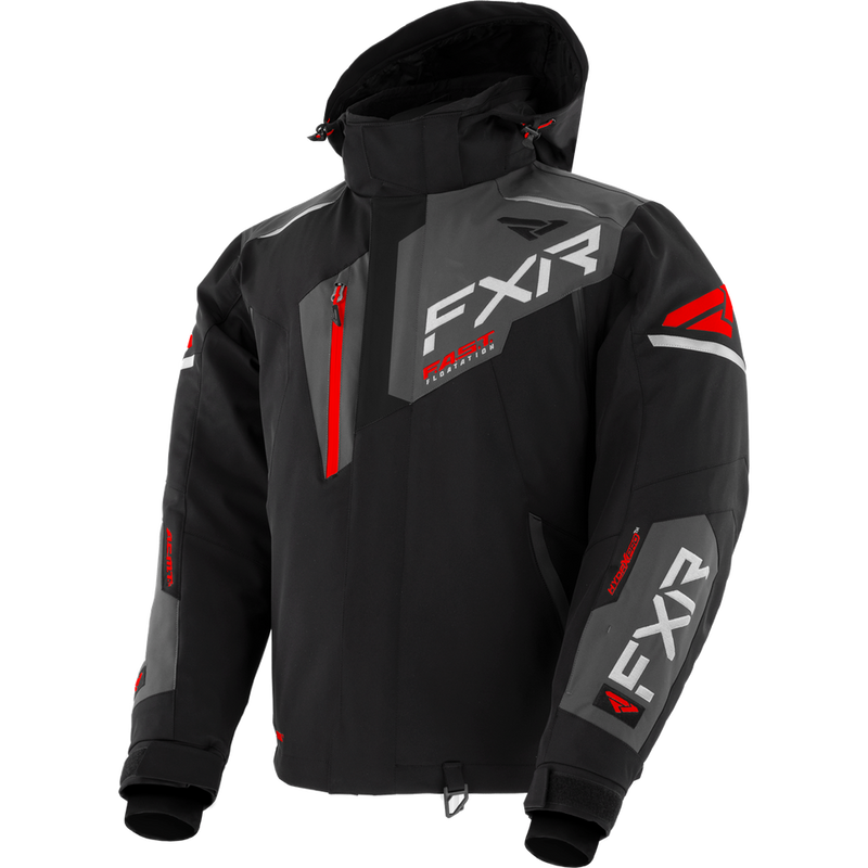 FXR Renegade FX Jacket Black/Char/Red
