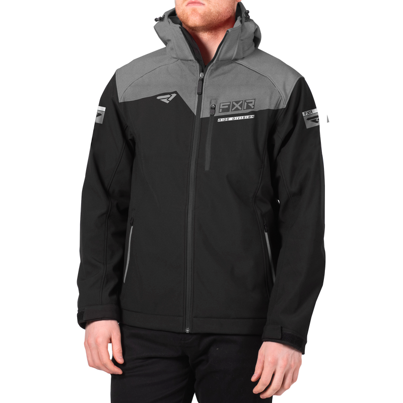 FXR Renegade Softshell Black/Grey Heather