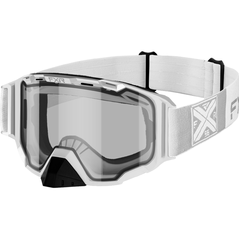 FXR Maverick Goggle White with Clear Lens