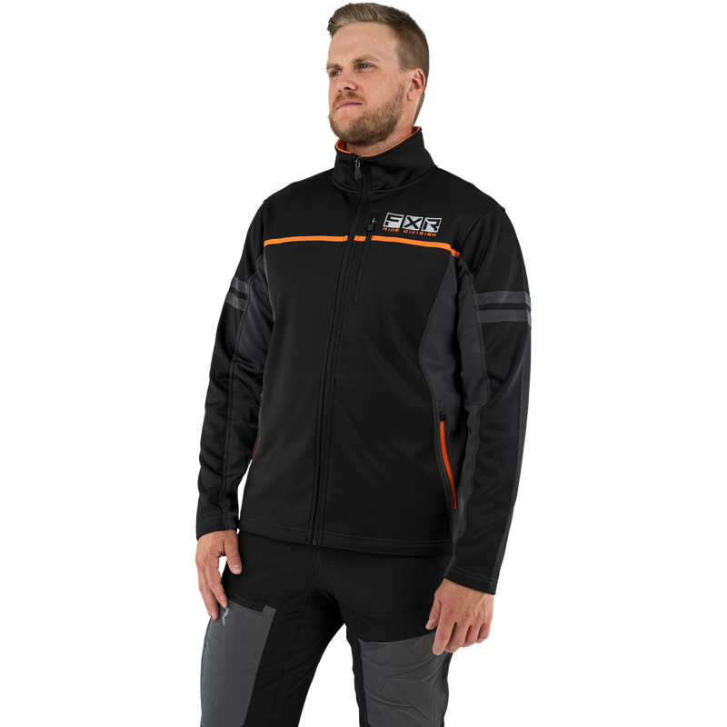 FXR Elevation Tech Zip-Up Black/Orange