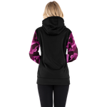 FXR Women's Helium Tech Pullover Fleece Plum Camo/Black