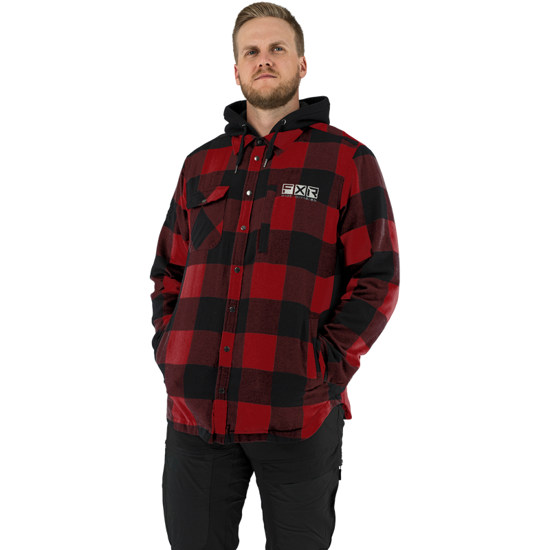 FXR Timber Insulated Flannel Jacket Rust/Black