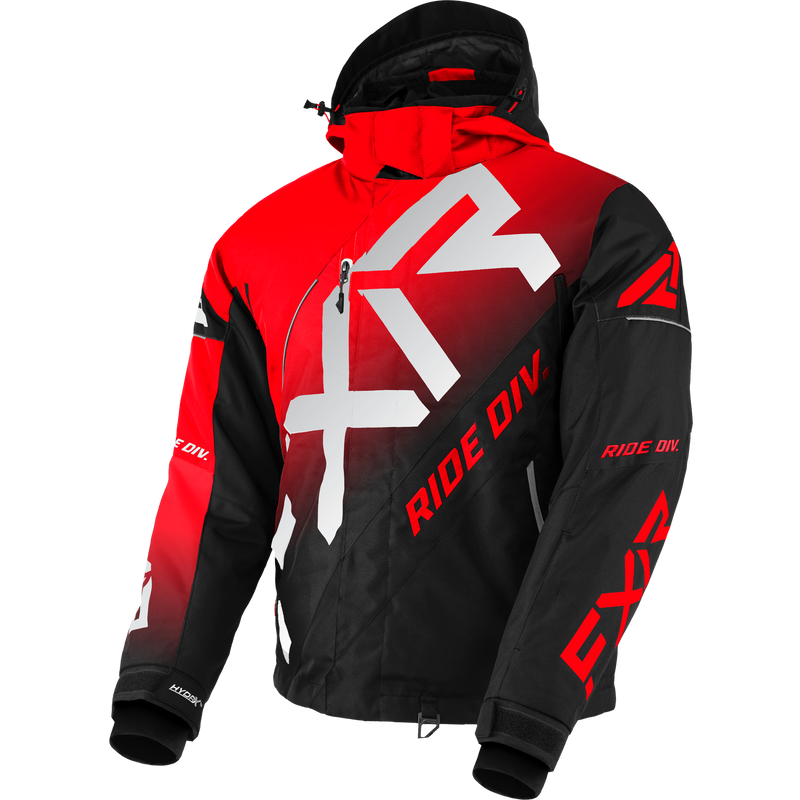 FXR CX Jacket Red Black Fade/Lt Grey