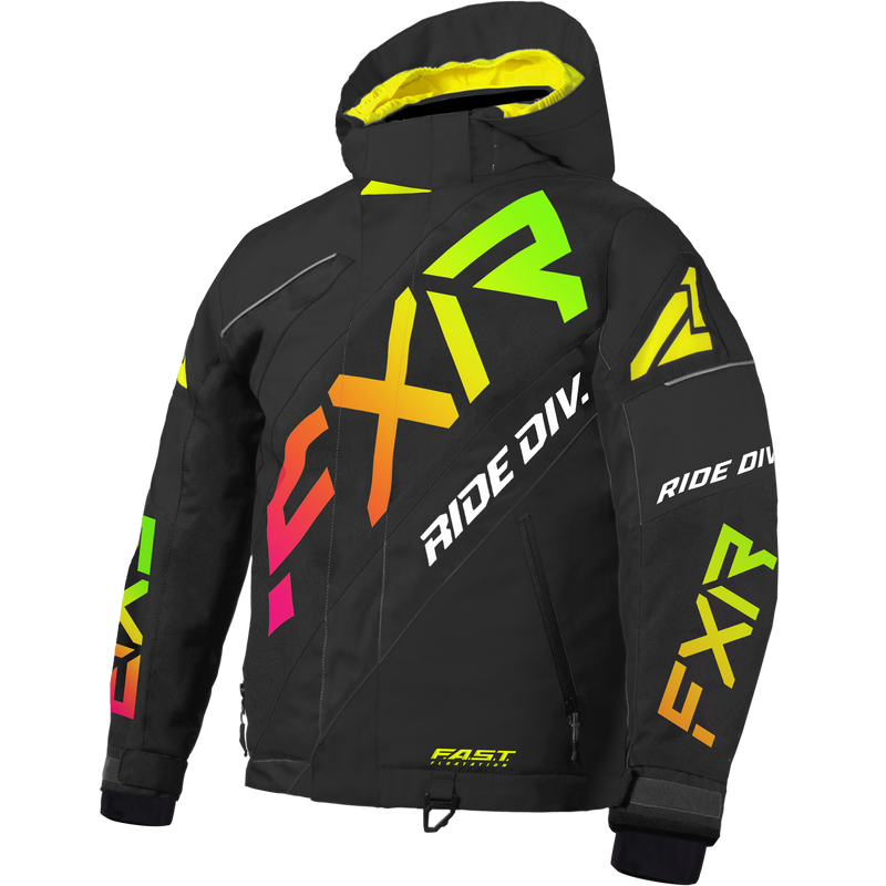 FXR CX Youth Jacket Black/Sherbert