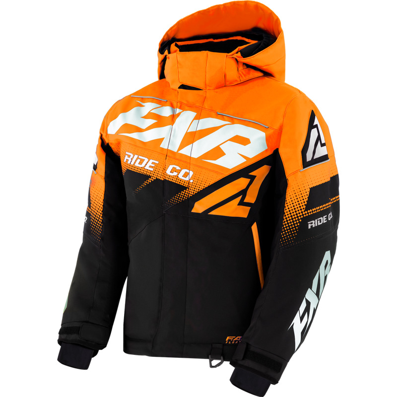 FXR Boost Youth Jacket Black/Orange/White