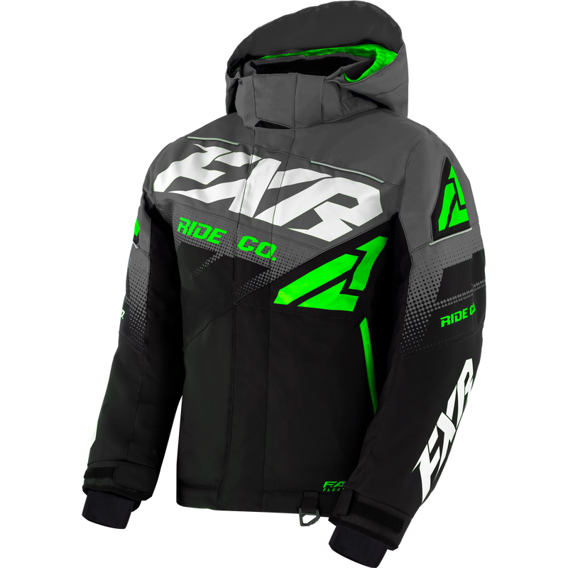 FXR Boost Youth Jacket Black/Char/Lime