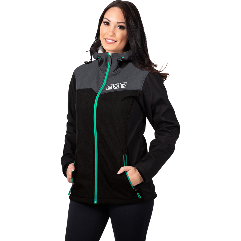 FXR Women's Pulse Softshell Black/Mint