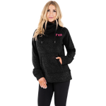 FXR Women's Ember Sweater Pullover Black Heather/Electric Pink
