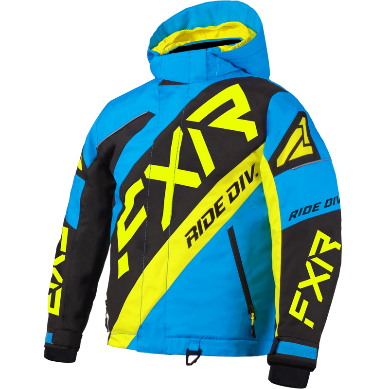 FXR CX Youth Jacket Blue/Black/Hi-Vis