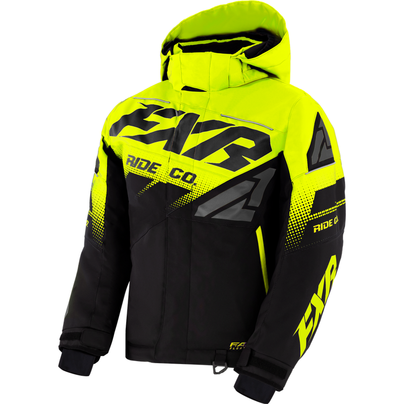 FXR Boost Youth Jacket Black/Hi-Vis