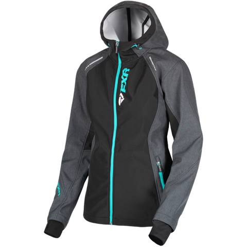 FXR Pulse 2019 Softshell Jacket Charcoal Mint