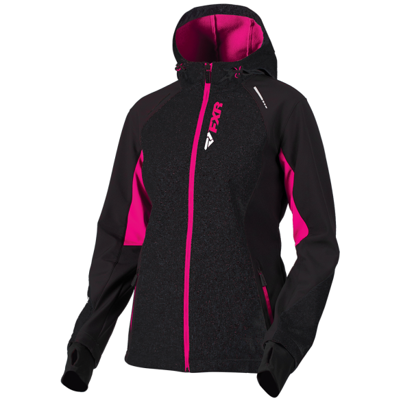 FXR Pulse Womens Softshell Jacket Black Fuchsia