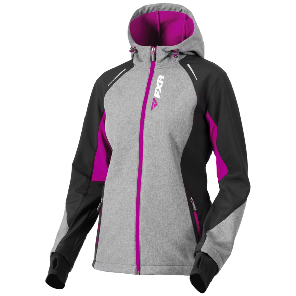 FXR Pulse Womens Softshell Jacket Heather/Berry