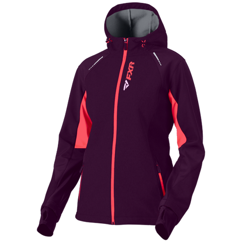 FXR Pulse 2019 Softshell Jacket Plum Coral