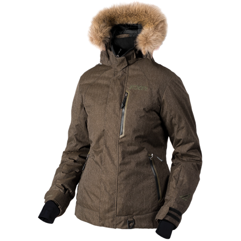 FXR Pursuit Womens Jacket Khaki Herringbone